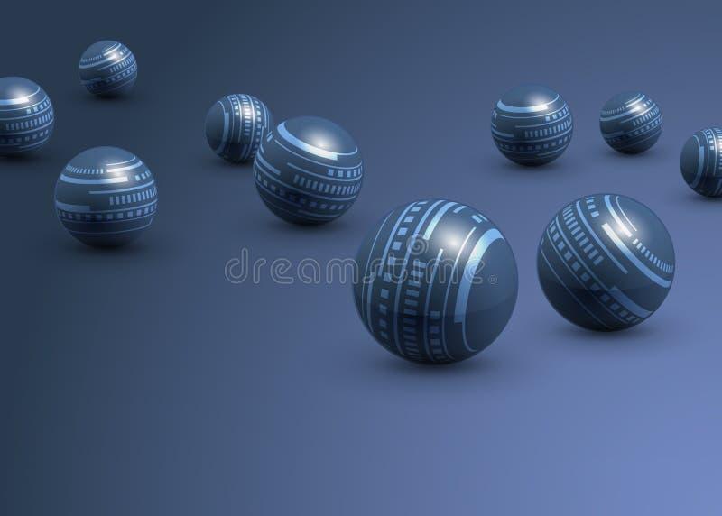 Blauwe technologie abstracte achtergrond royalty-vrije illustratie