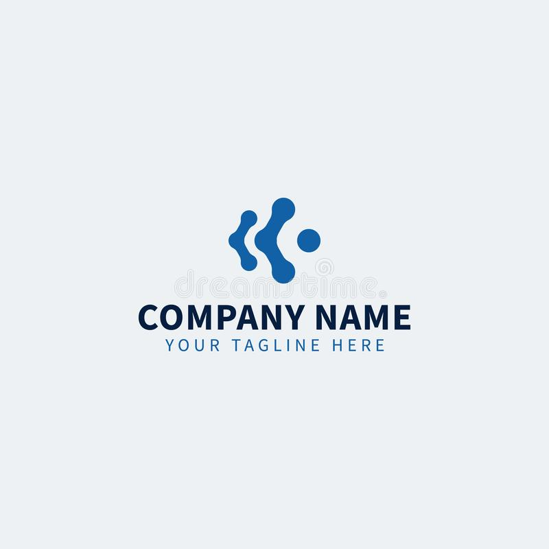 Blauwe Technologieit Logo Editable voor IT zaken of de dienst vector illustratie