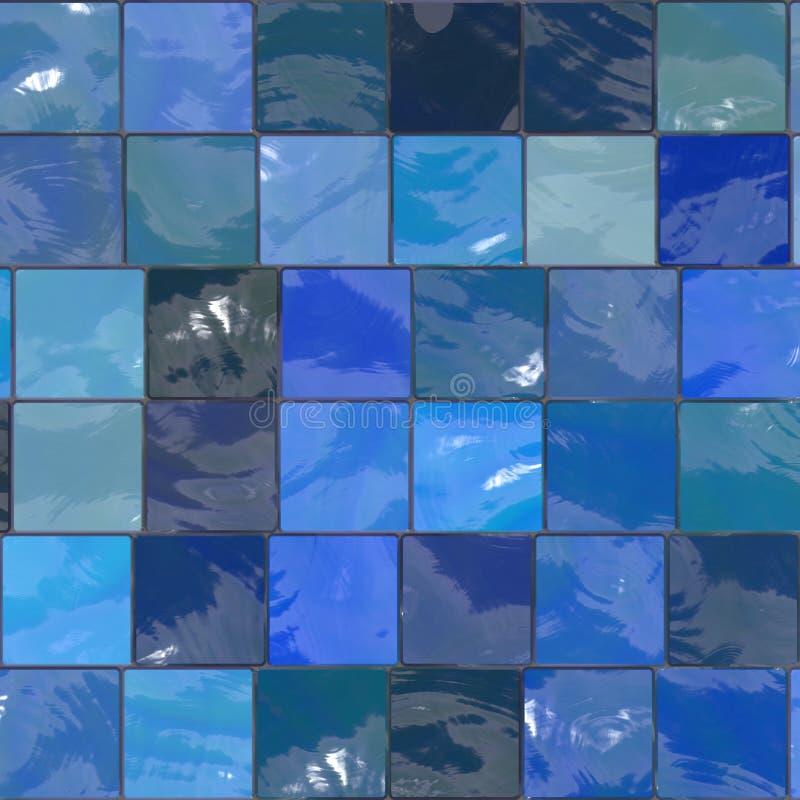 Blauwe tegels royalty-vrije stock afbeeldingen