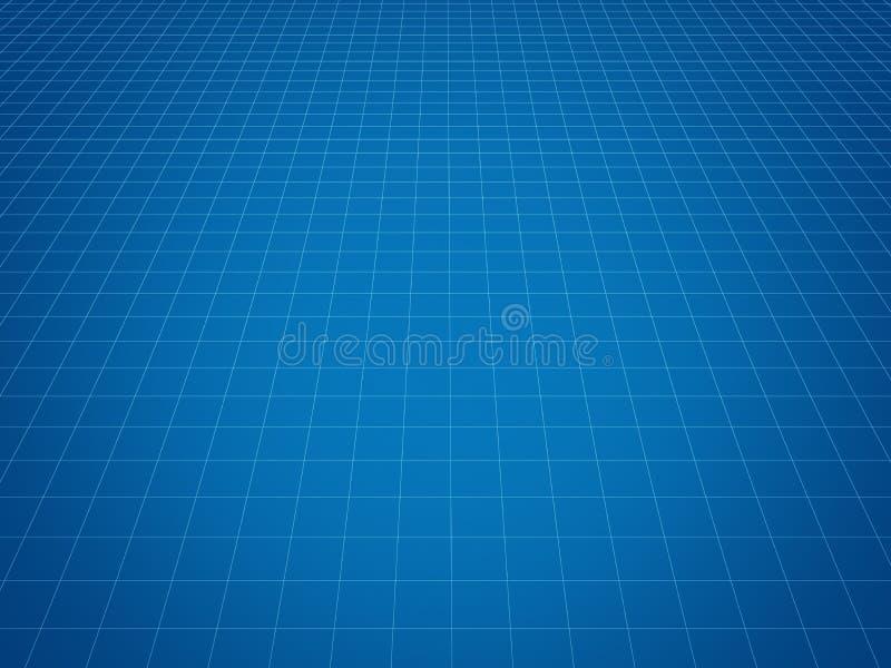 Blauwe tegelsachtergrond voor technologieconcept, 3d illustratie royalty-vrije illustratie