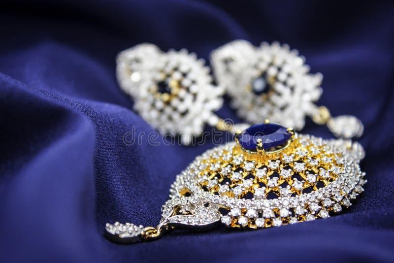 Blauwe Tegenhangerreeks royalty-vrije stock afbeelding