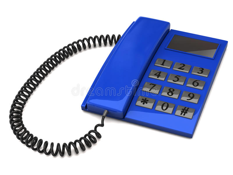 Blauwe telefoon stock foto's