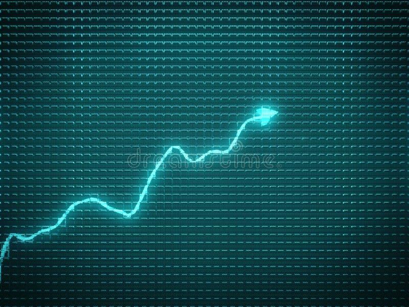 Blauwe tendens als successymbool of financiële groei royalty-vrije illustratie