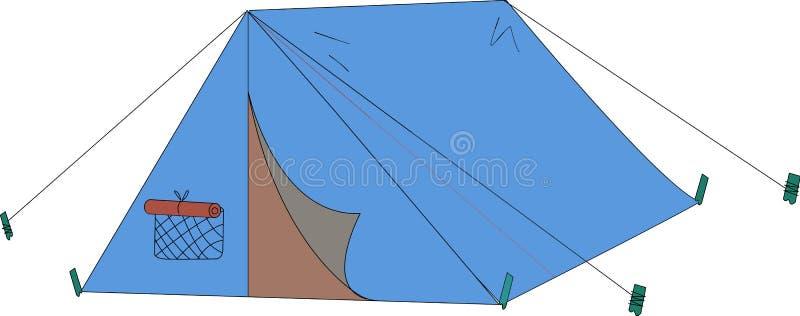 Blauwe tent vector illustratie