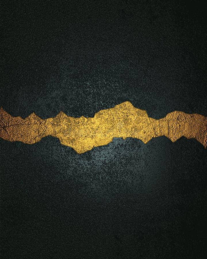 Blauwe textuur met gouden barst Element voor ontwerp Malplaatje voor ontwerp exemplaarruimte voor advertentiebrochure of aankondi royalty-vrije stock foto