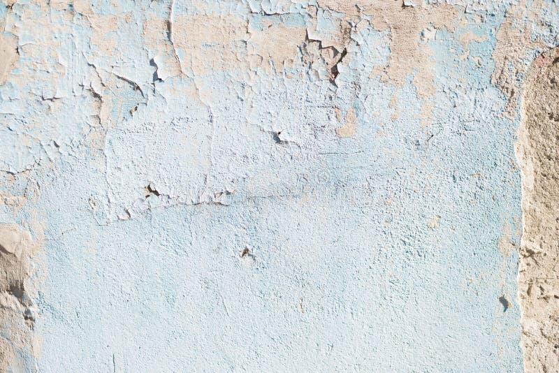 Blauwe textuur met krassen en barsten Achtergrond voor een uitnodigingskaart of een gelukwens Blauw en wit patroon royalty-vrije stock foto
