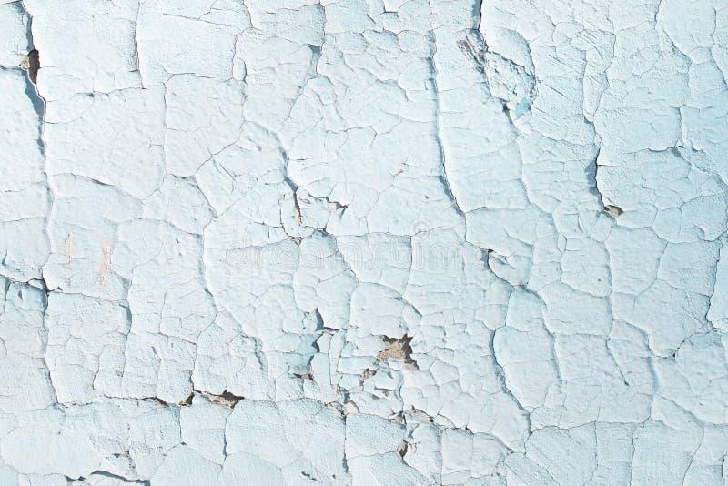 Blauwe textuur met krassen en barsten Achtergrond voor een uitnodigingskaart of een gelukwens Blauw en wit patroon stock fotografie