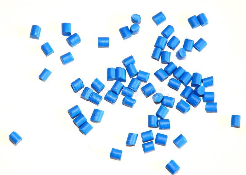 Blauwe thermoplastische hars royalty-vrije stock foto's