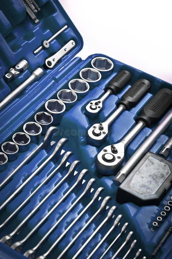 Blauwe toolbox royalty-vrije stock foto's