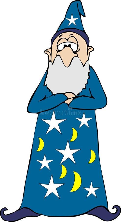 Blauwe Tovenaar stock illustratie