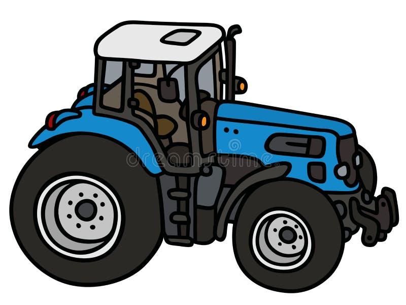 Blauwe Tractor stock illustratie