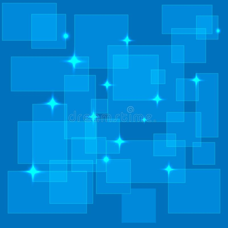Blauwe transparante vierkante abstracte digitale vector als achtergrond vector illustratie