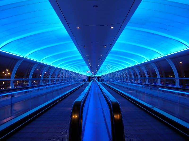 Blauwe Tunnel royalty-vrije stock afbeeldingen