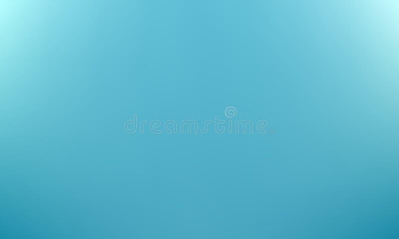 Blauwe vage gradiëntachtergrond Vector royalty-vrije illustratie