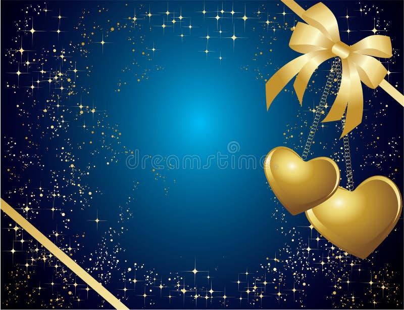 Blauwe valentijnskaartenkaart stock illustratie