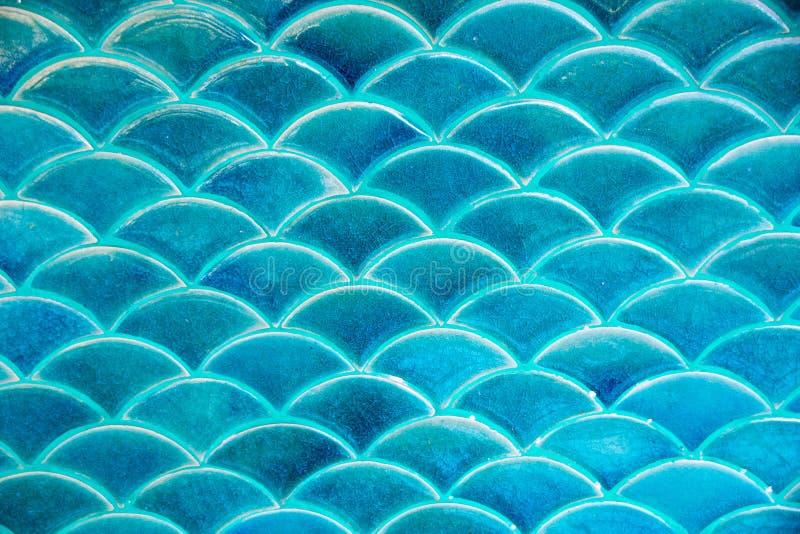 Blauwe van de de golftegel van het cirkelwater de textuurachtergrond stock fotografie
