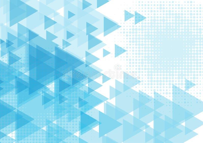 Blauwe van de driehoeksvorm abstracte Vectorillustratie als achtergrond EPS10 vector illustratie