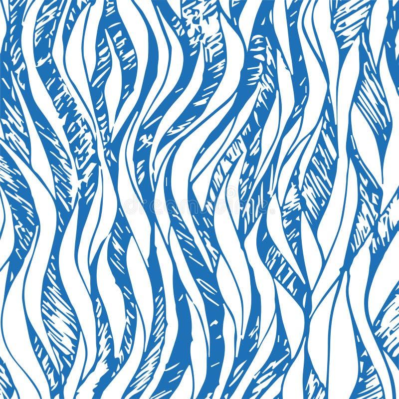Blauwe van de lijnenabstractie vectorillustratie als achtergrond voor ontwerp en decor vector illustratie