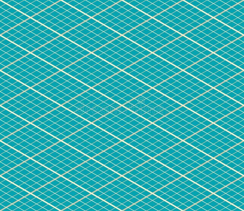 Blauwe Vector Isometrische Naadloze Achtergrond stock illustratie