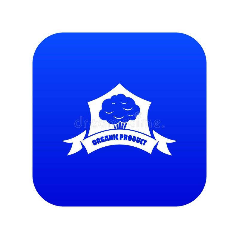 Blauwe vector van het biologisch product de plantaardige pictogram royalty-vrije illustratie