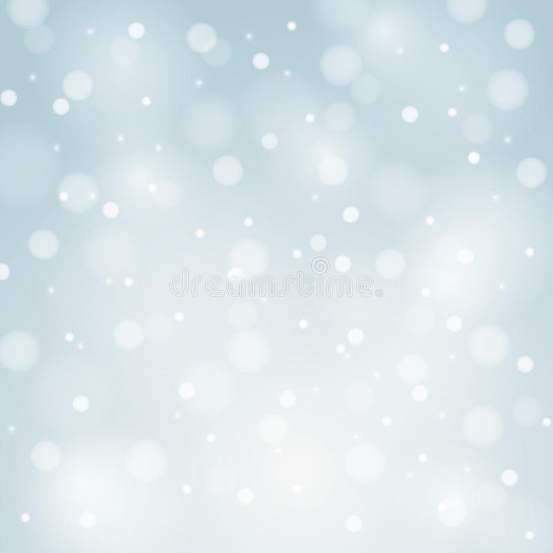Blauwe Vectorkerstmisachtergrond met witte sneeuwvlokken stock illustratie