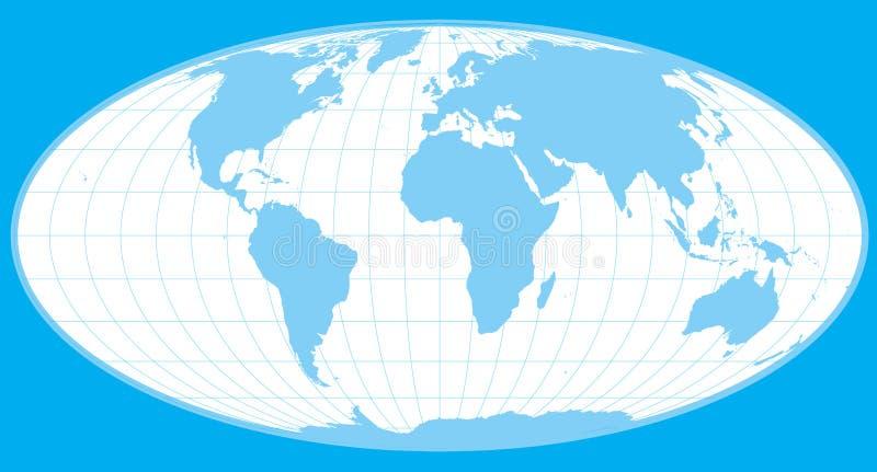 Blauwe vectorwereldbol vector illustratie