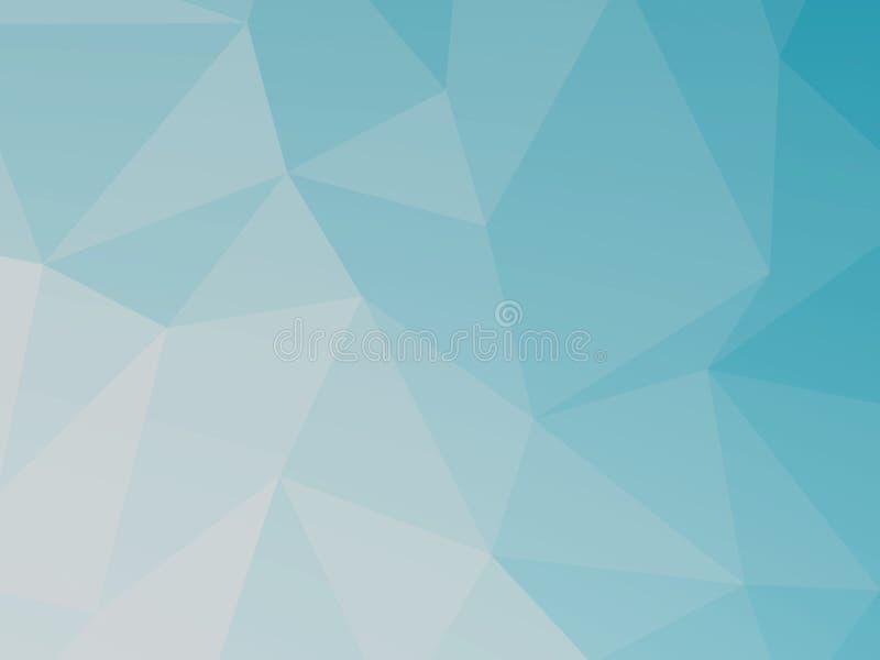 Blauwe veelhoek geometrische abstracte achtergrond vector illustratie