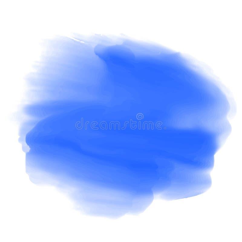 Blauwe verf, borstelslagen - vector stock illustratie