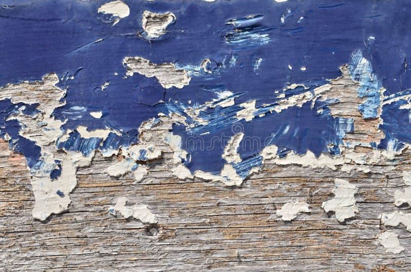 Blauwe verf op hout stock afbeeldingen