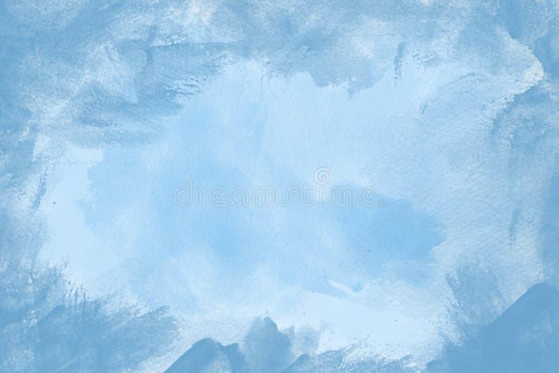Blauwe verfframe achtergrond vector illustratie