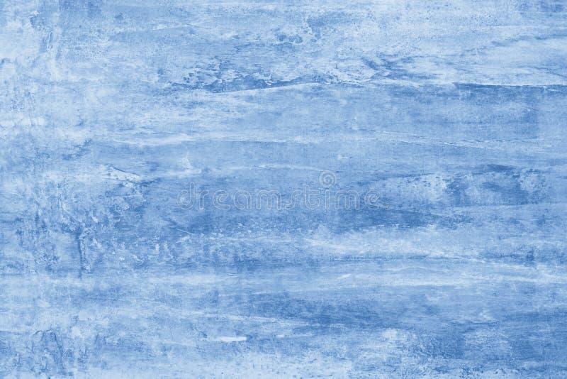 Blauwe verfvlekken op canvas Illustratie met Blauwe vlekken op heldere achtergrond Abstract patroon van waterverf Creatieve artis royalty-vrije stock foto's