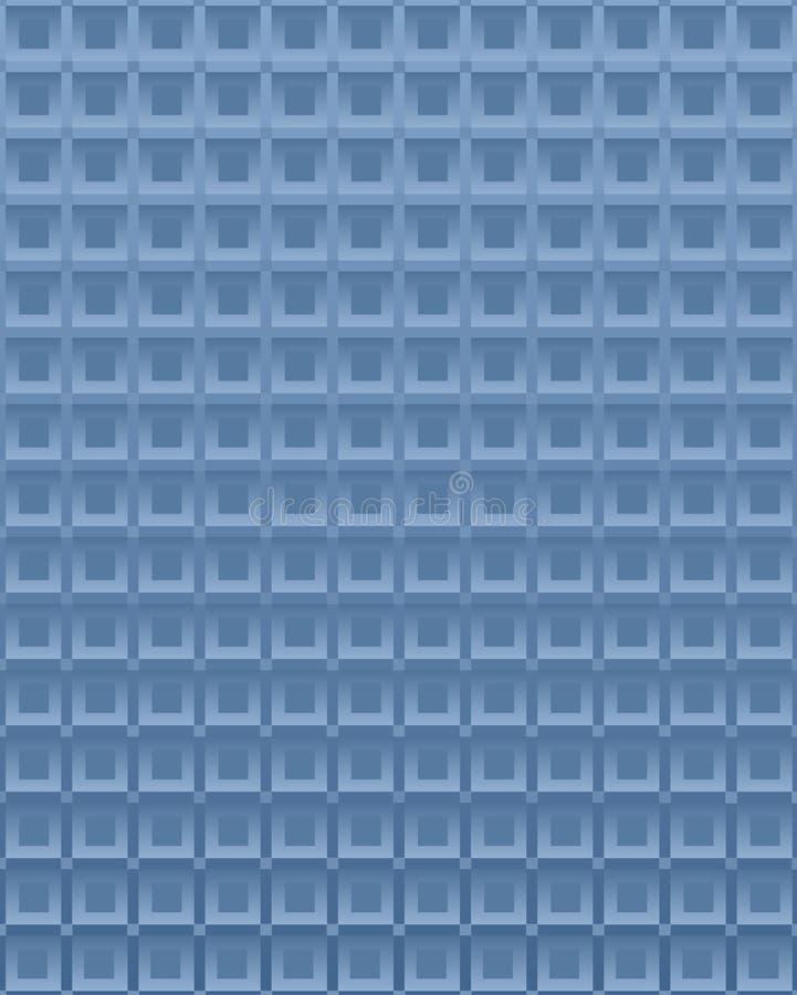 Blauwe vierkante achtergrond stock illustratie
