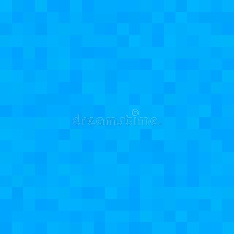 Blauwe vierkante mozaïekachtergrond Naadloos 3D Pixelmozaïek Uitstekende kleurrijke textuur stock illustratie