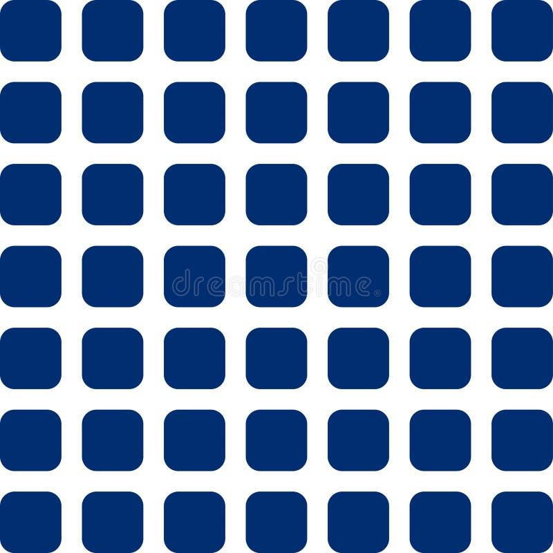 Blauwe Vierkanten royalty-vrije illustratie