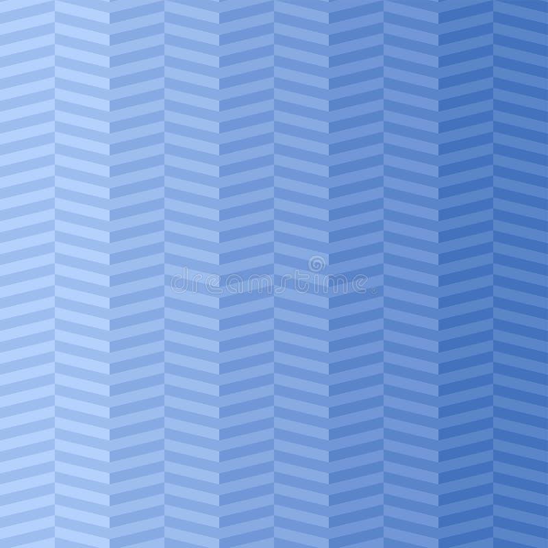 Blauwe visgraat Vector naadloos patroon eenvoudige streepachtergrond textielverf Herhaalde achtergrond Stoffenmonster royalty-vrije illustratie