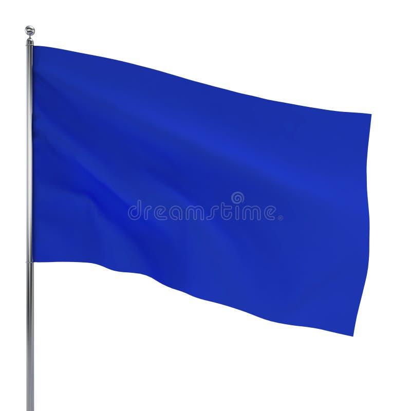 Blauwe Vlag vector illustratie