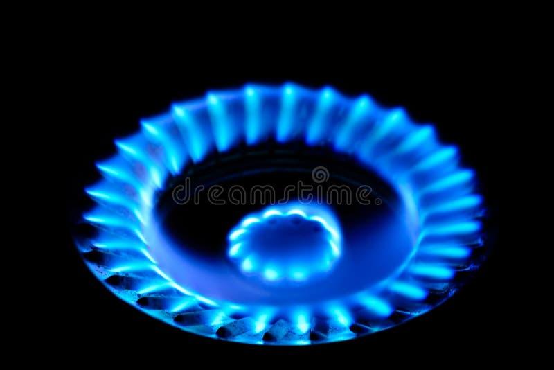 Blauwe vlam van brand stock foto