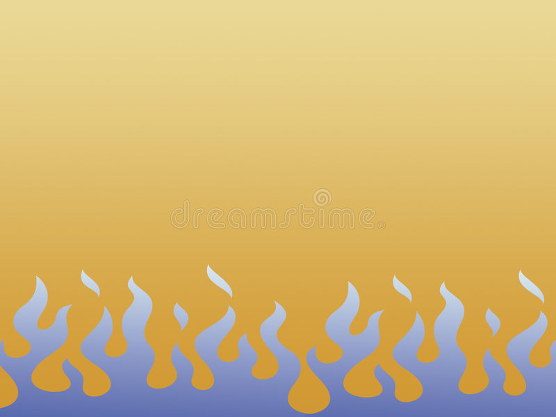Blauwe vlammen royalty-vrije illustratie