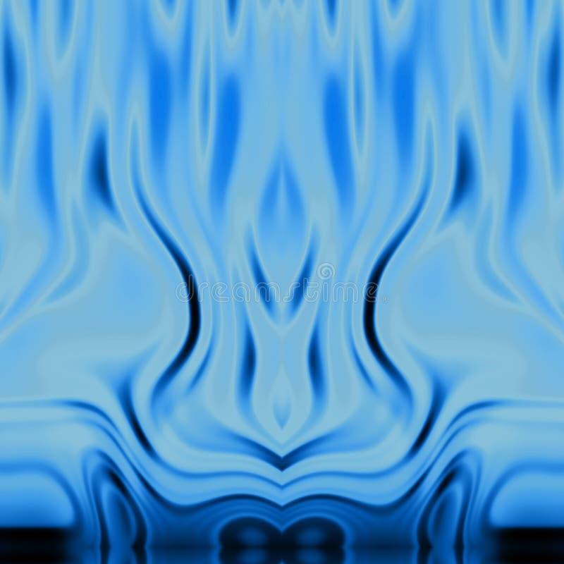 Blauwe vlammen BG stock illustratie