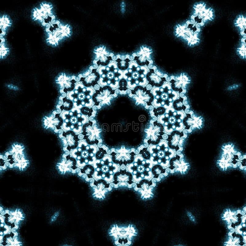 Blauwe vlammencaleidoscoop vector illustratie