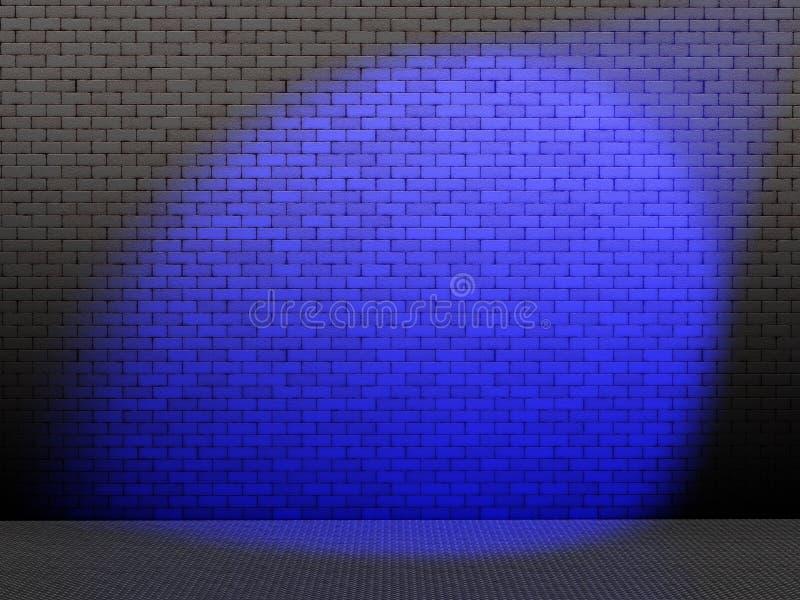 Blauwe vlek op muur royalty-vrije illustratie