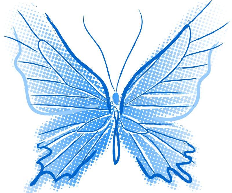 Blauwe Vlinder royalty-vrije illustratie