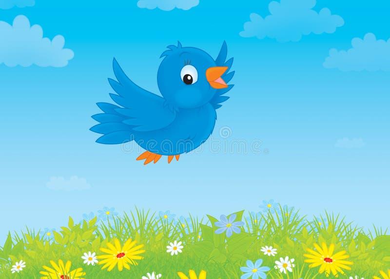 Blauwe vogel vector illustratie