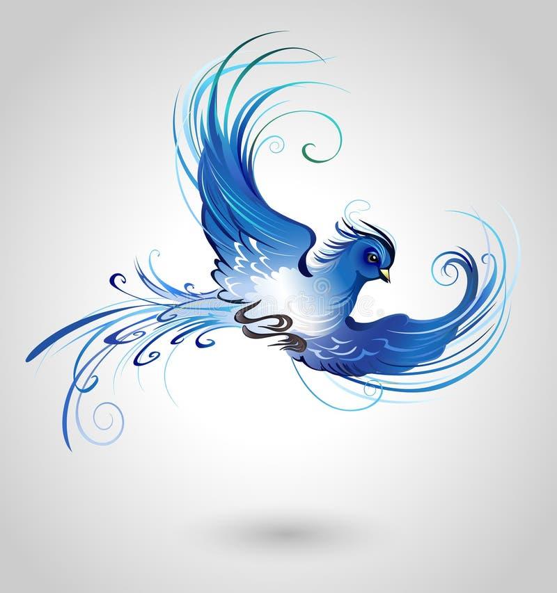Blauwe Vogel royalty-vrije illustratie