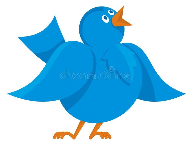 Blauwe vogelmededeling stock illustratie
