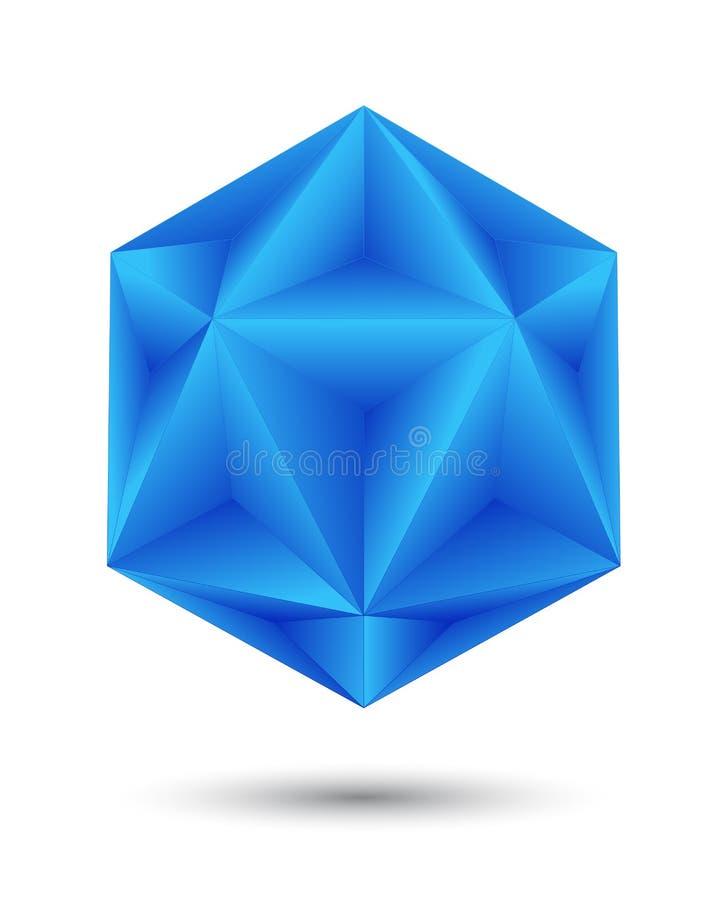 Blauwe volumetrische vorm royalty-vrije illustratie