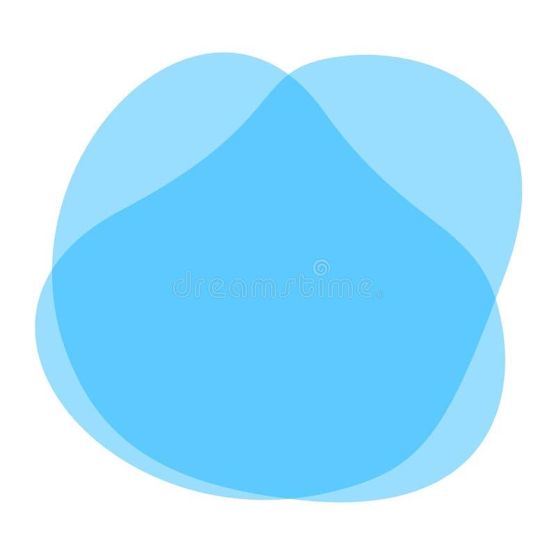 Blauwe vrije vormen geometrisch voor bannerachtergrond, de eenvoudige vloeibare vlakke vlek van de vlekborstel voor het exemplaar stock illustratie