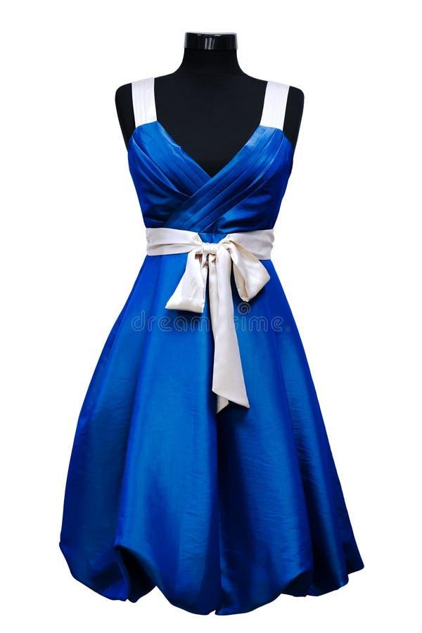 Blauwe vrouwelijke kleding royalty-vrije stock fotografie