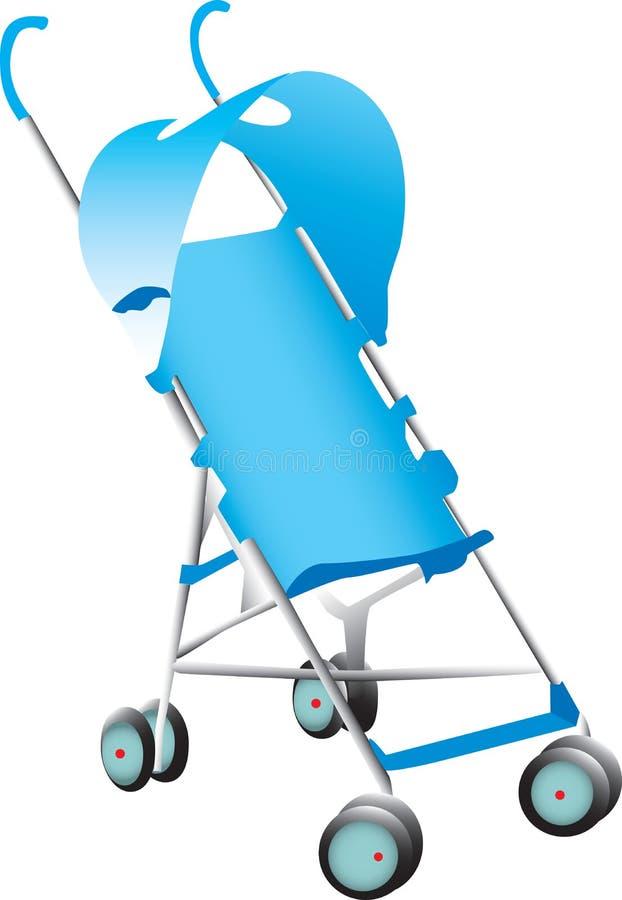 Blauwe wandelwagen stock illustratie