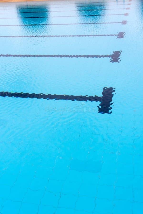 Blauwe watergolf in zwembad stock foto